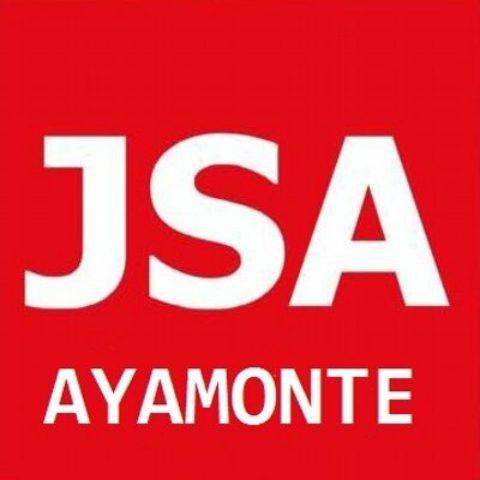 El compañero y S.general de jsa Ayamonte Javier López pide un saludo a Patxi López.
